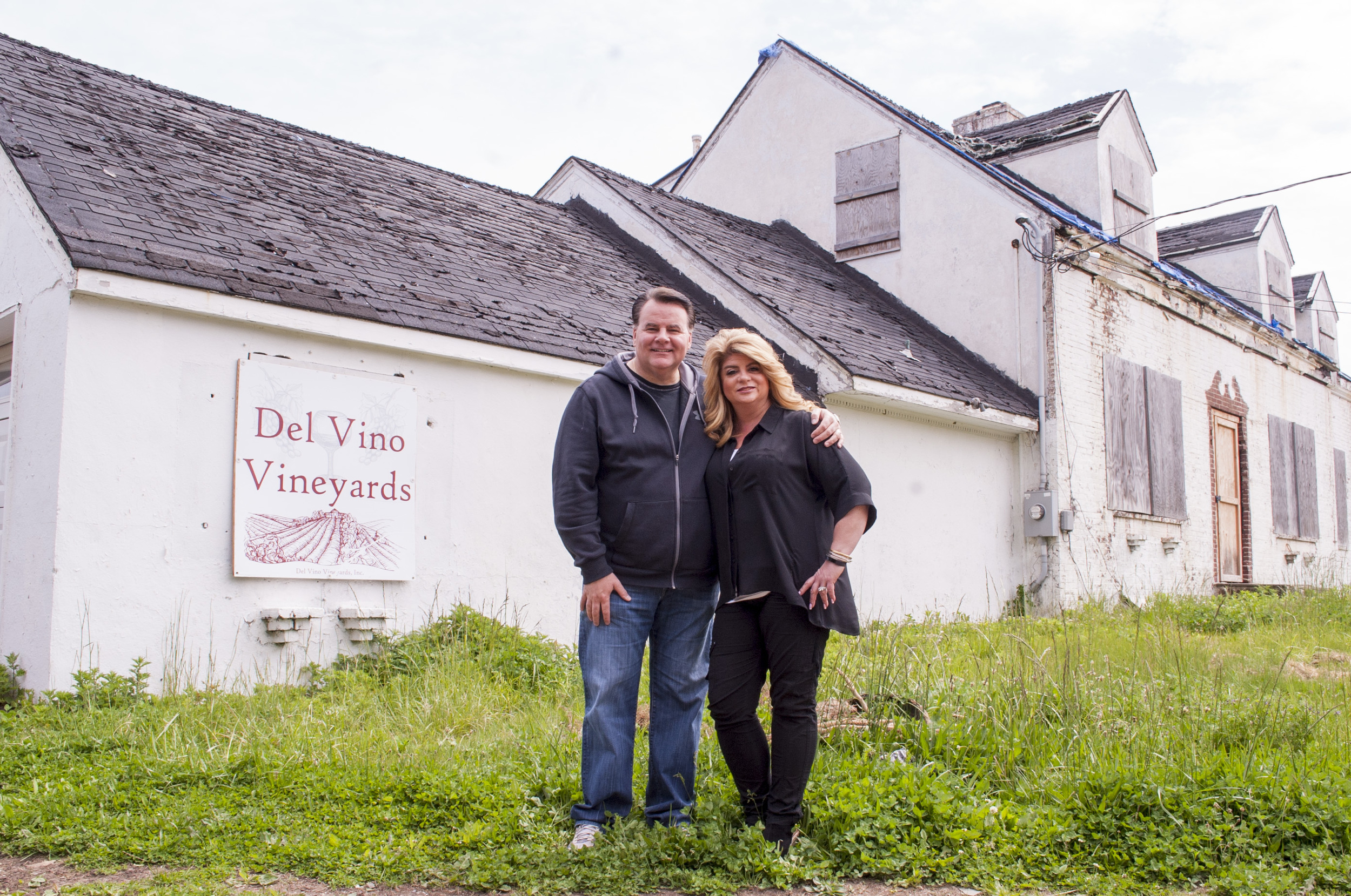 Huntington   officials unreasonably restricted Frank Giachetti, above, from moving forward with his proposal to build Del Vino Vineyard on his Norwood Road property in Northport, according to preliminary state findings. Above Giachetti and wife Lisa are pictured on the property.