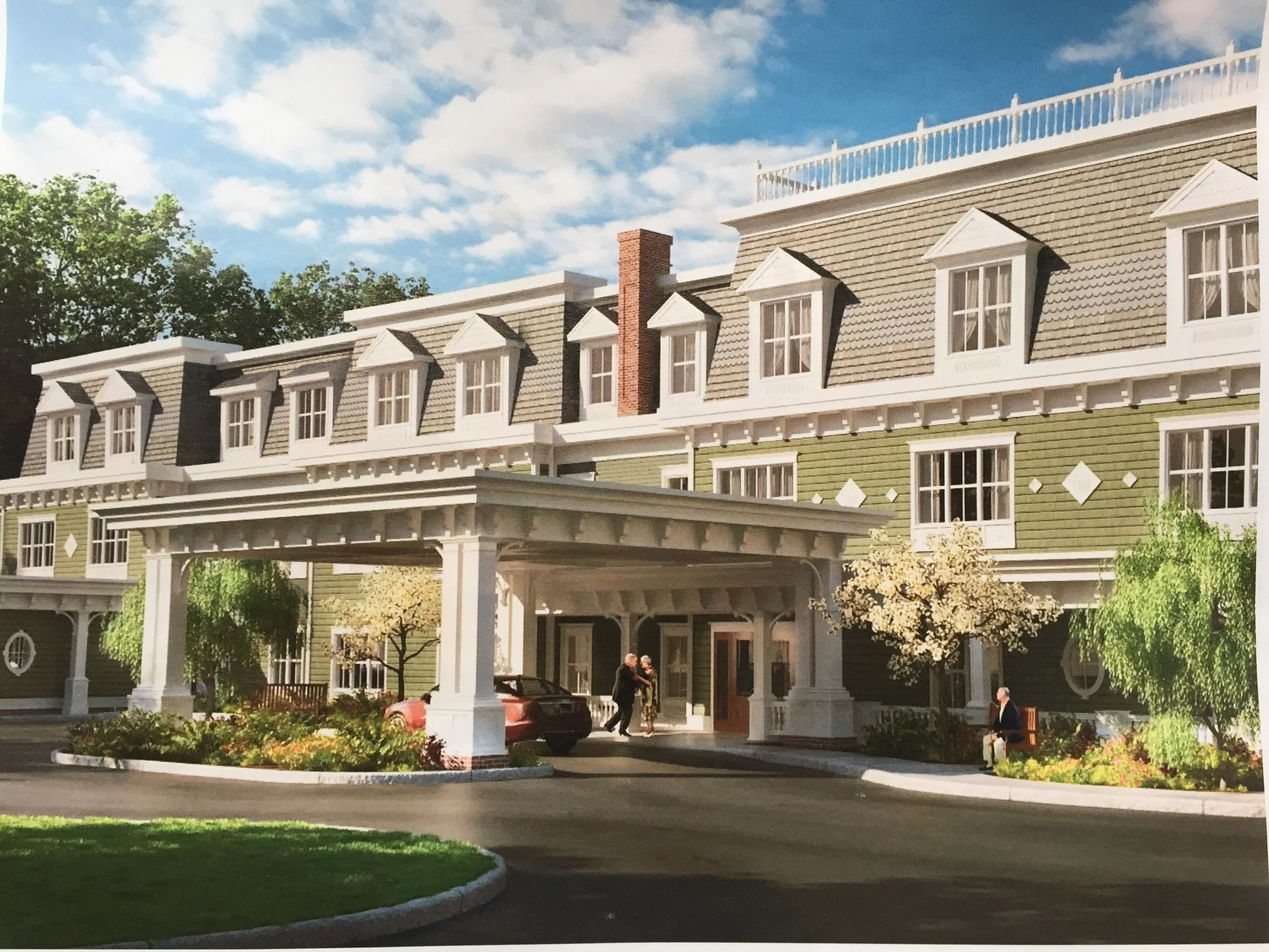 The proposed 174,557-square-foot Brightview Senior Living assisted living facility would create 166 apartments for seniors across three plots of land in Dix Hills totaling 10 acres.