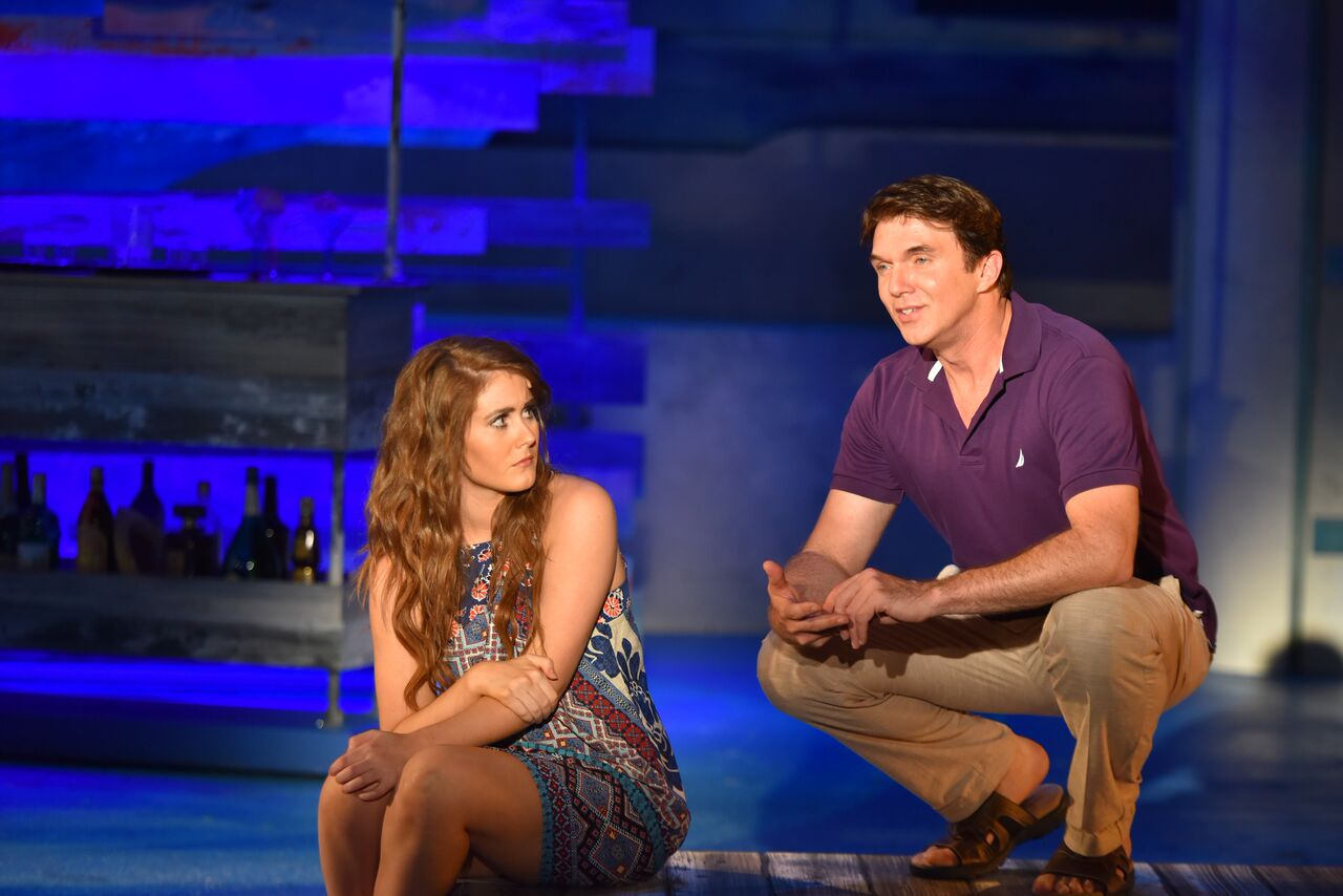 """Hannah Slabaugh (as Sophie) and Sean Hayden (as Sam) during """"Knowing Me, Knowing You,"""" where Sam acts as the doting father figure to Sophie."""