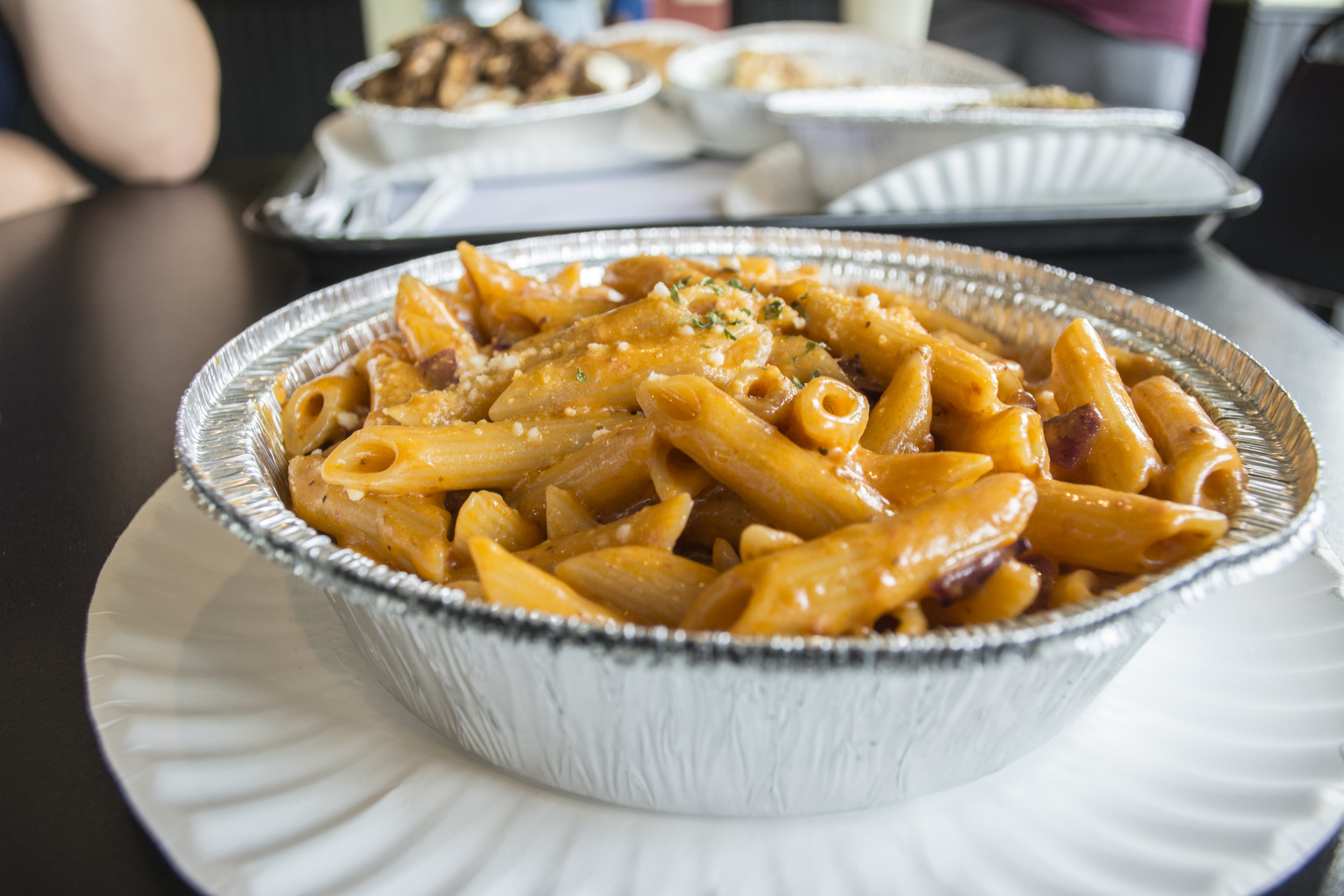 The penne ala vodka at Jonny D's Pizza is both creamy and hearty, and provides blasts of flavor in each bite.