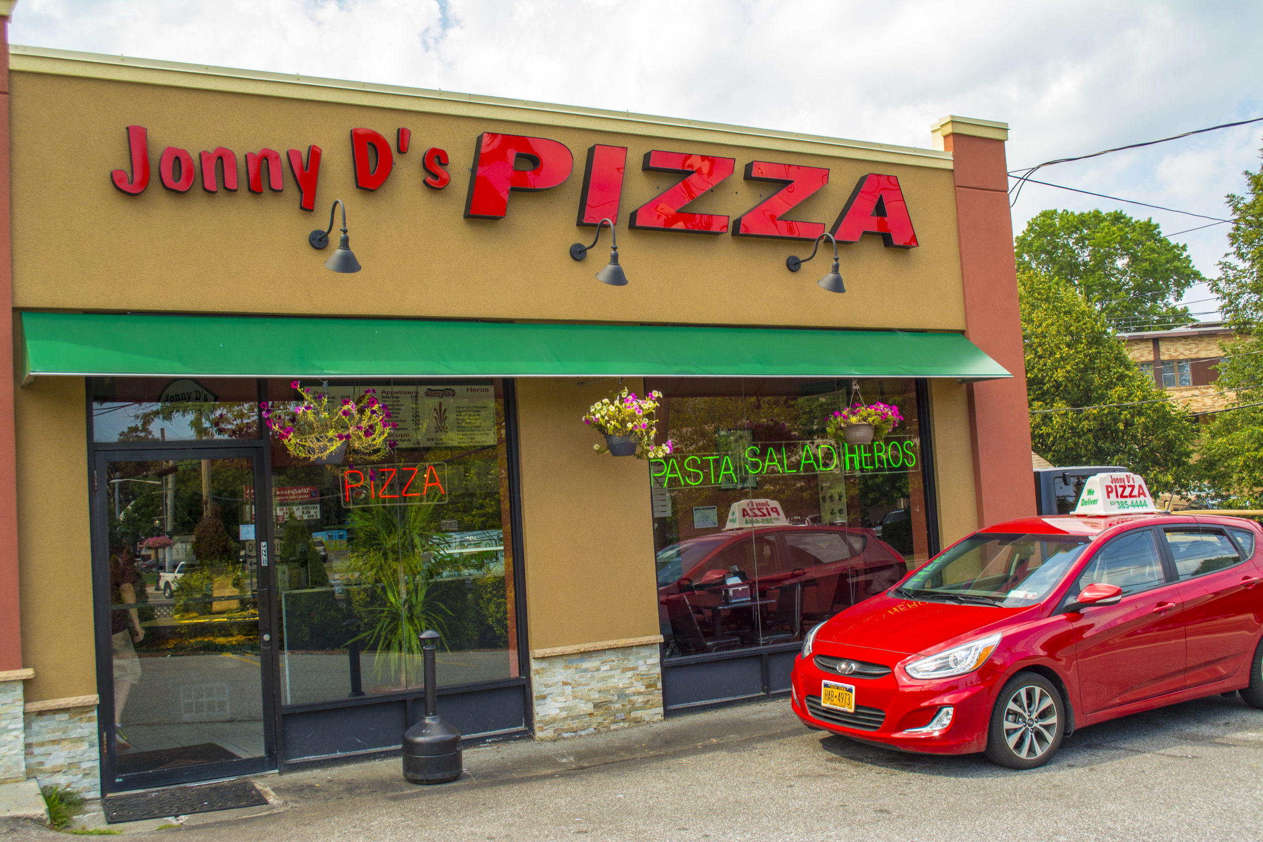 Jonny D's Pizza is located at 946 New York Ave. in Huntington. A second location is also located at 91 Broadway Greenlawn.