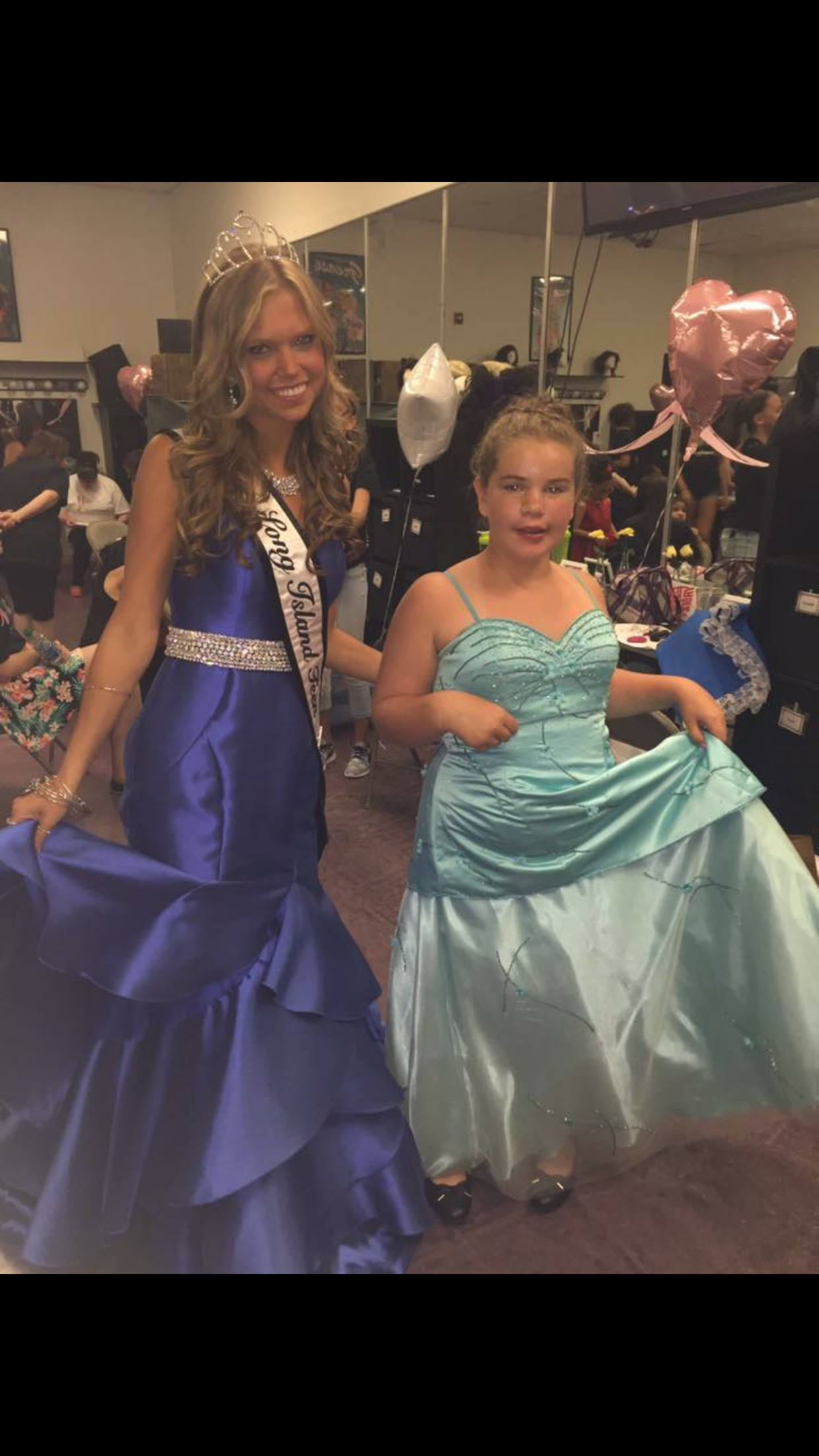 2017 Miss Long Island Teen Taylor Yaeger, 18, of Dix Hills, is pictured last week at the Miss Exceptional Long Island pageant, during which she crowned participants.