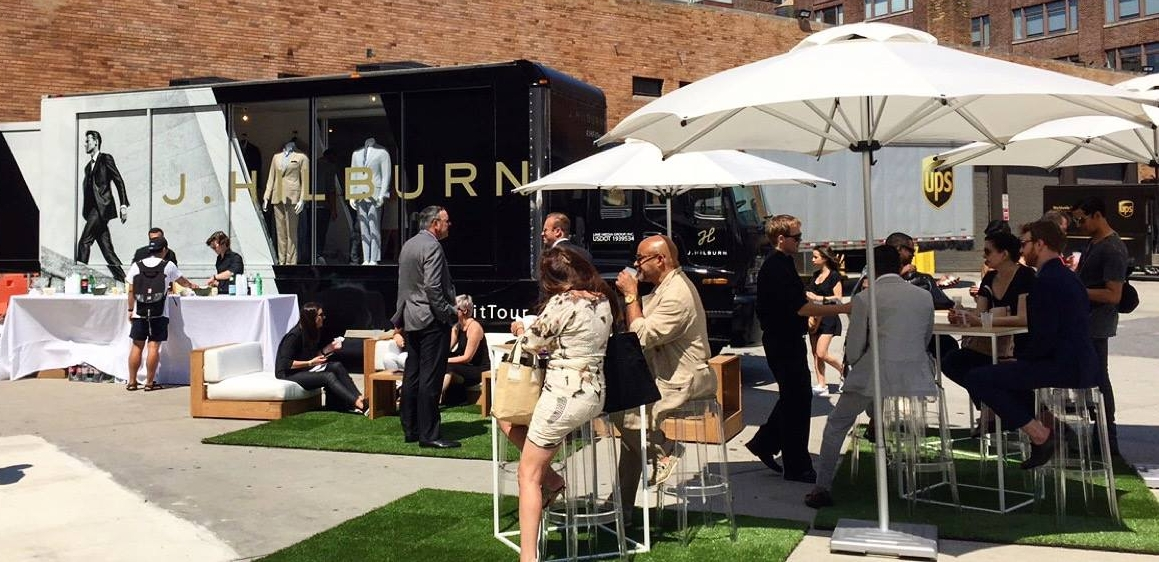 Texas-based luxury menswear company J. Hilburn is taking its mobile studio across the U.S. to show off its Fall 2016 Collection. On Friday, Sept. 23, the tour will stop at Jewel Restaurant in Melville.