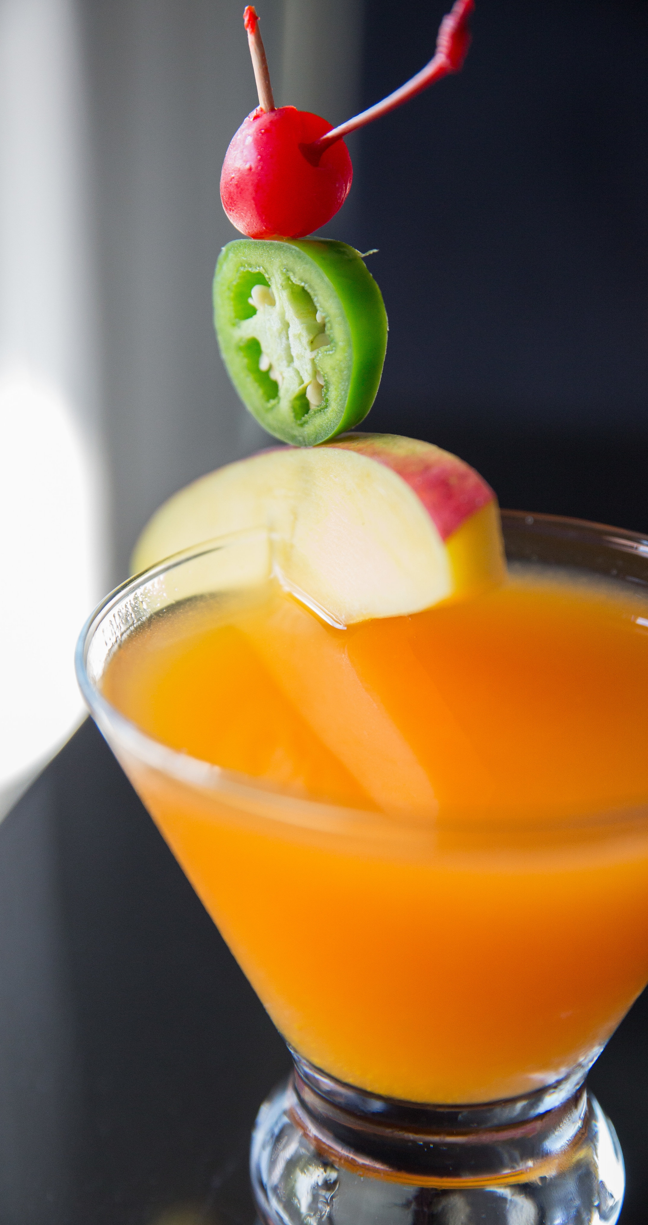 Long Islander News photos/Jano Tantongco  The Jalapeno Mango Martini features Absolut vodka infused in-house with jalapenos, mango puree and fresh lime juice, for a refreshing drink with a hint of spiciness.