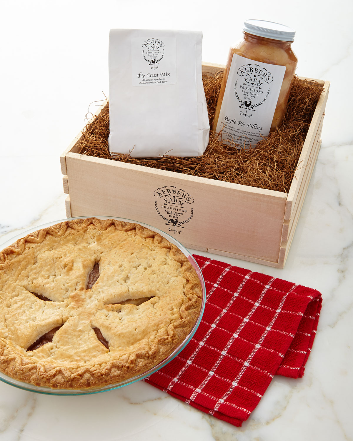 Huntington-based Kerber's Farm is selling a variety of different kits, such as the Apple Pie Kit above, through Neiman-Marcus stores.