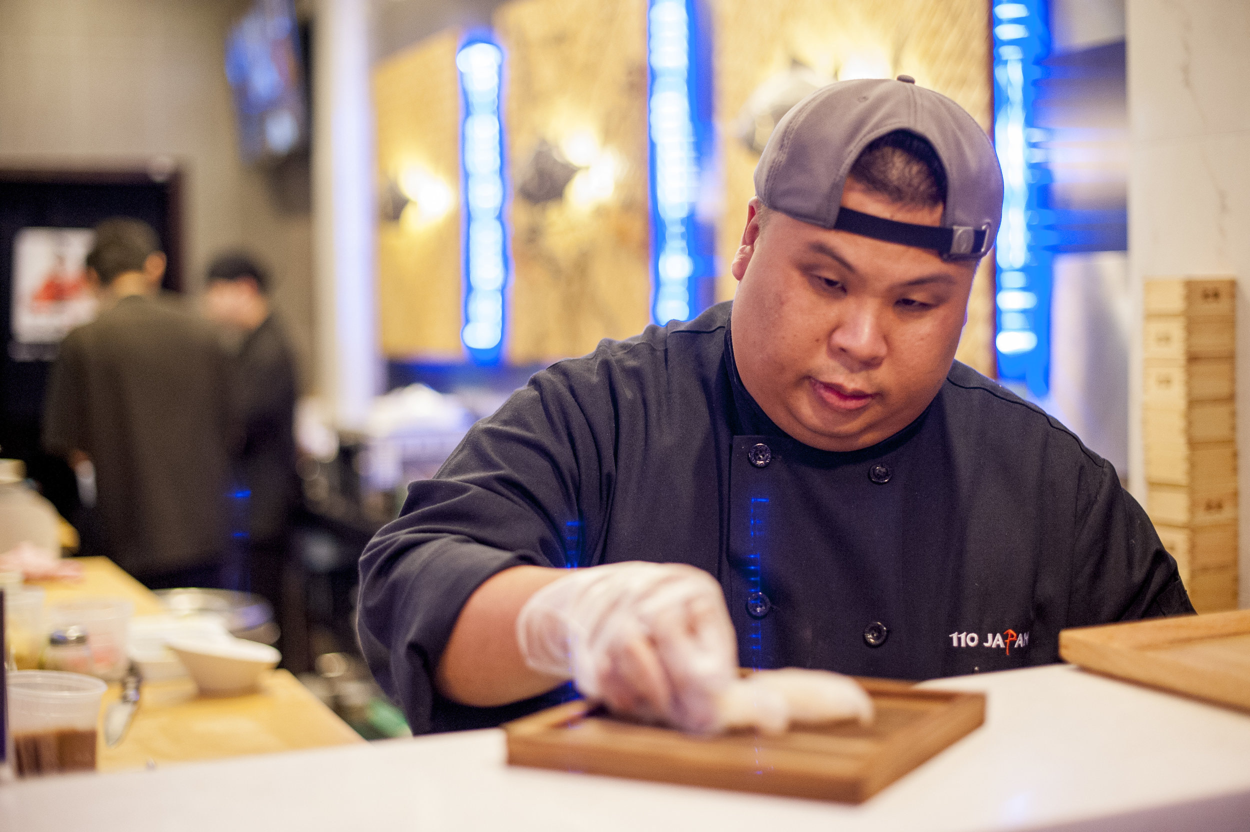 Chee Meng So, executive chef of 110 Japan, prepares some sushi, believing that food made from the heart always tastes better.