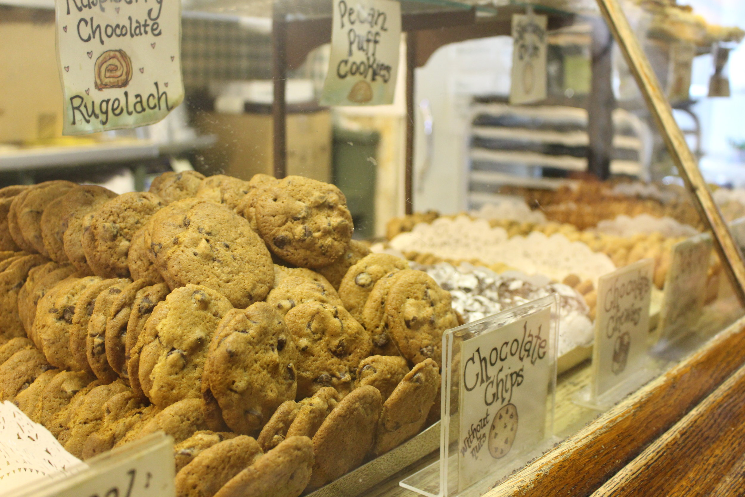 The cookie selection at A Rise Above Bake Shop in Huntington village. Each of the bake shop's offerings are made from scratch.