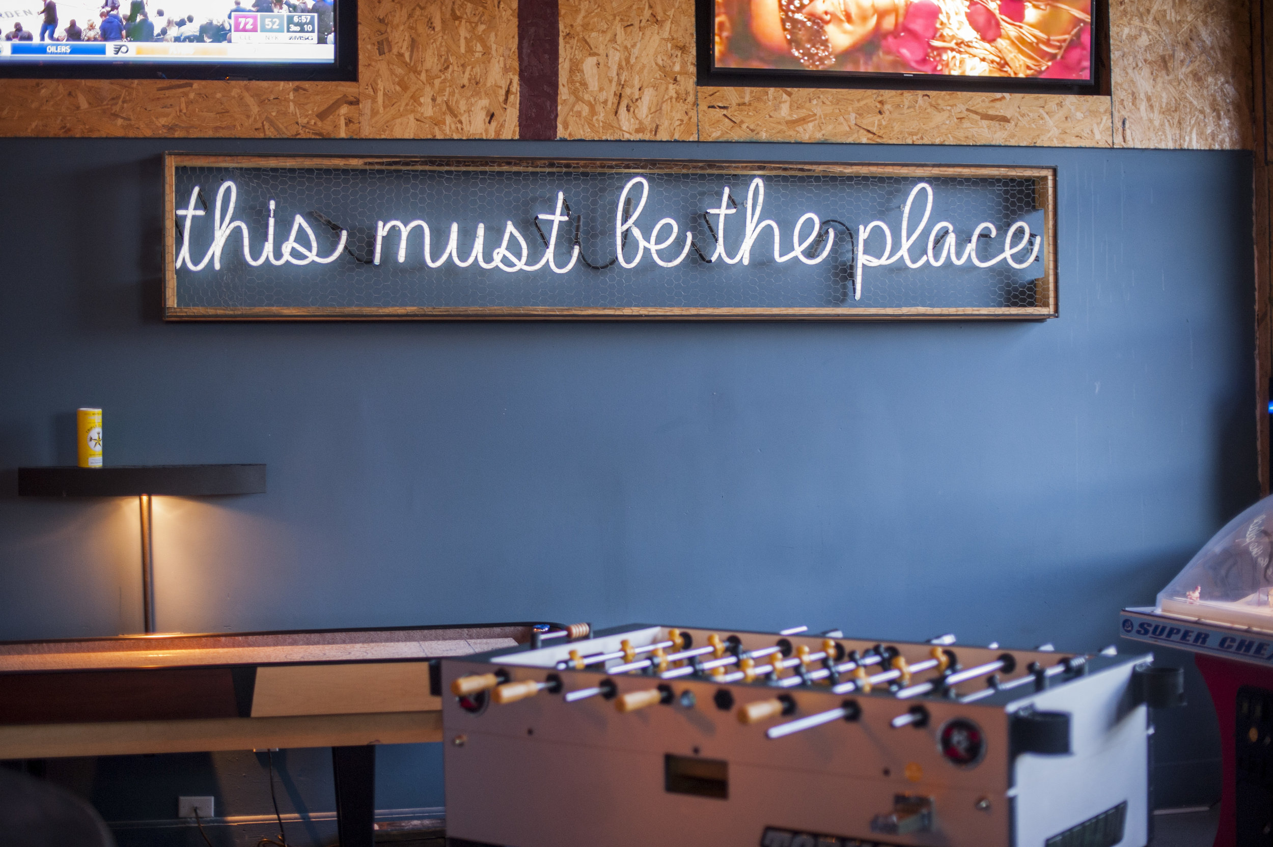 The Rust & Gold features bar room games like foosball, bubble hockey and shuffleboard to let patrons get involved for those who aren't satisfied with just spectating.