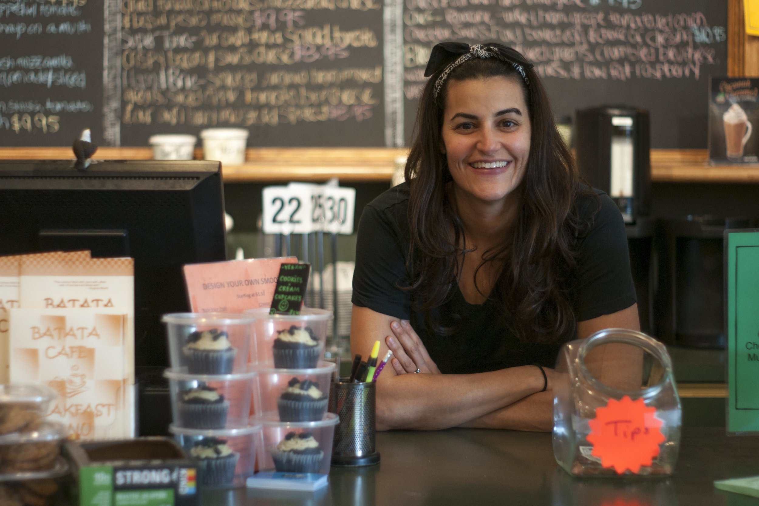 Long Islander News photos/David Weber  Nicole Offermann, owner of Batata Café, was inspired to open a location with natural ingredients after her travels to Central America.