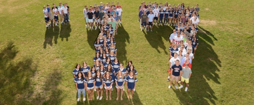 Left, 176 students of the Cold Spring Harbor 2017 graduating class said their final good-byes to the district on Sunday during the graduation ceremony.