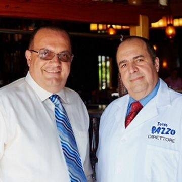 Long Islander News photos/David Weber  Joseph, left, and Luigi Petrone built the institution of Tutto Pazzo from its humble beginnings in 1992. Its 25th anniversary is this September.