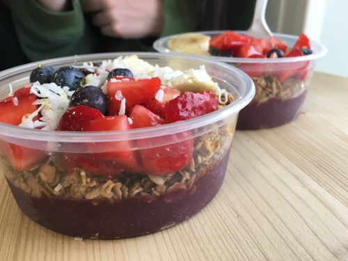 Acai bowls topped with granola, coconut, honey and fresh fruit will be available at SoBol.