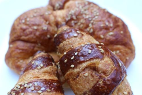 Long Islander News Photo/Lauren Peller  The popular pretzel croissants from Emilia's Bakehouse on Route 110 in Melville.