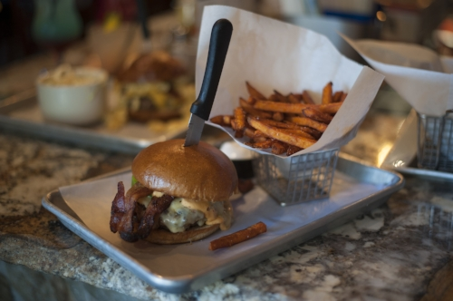 The 8-ounce Atomic burger delivers a spicy kick that doesn't overwhelm the taste buds.