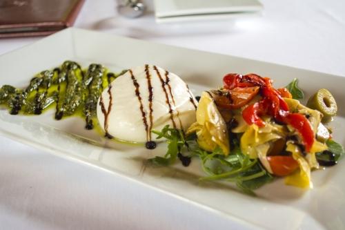 The Burrata Mozzarella dish is complete with a ricotta-mozzarella mix.   Long Islander News photo/Barbara Fiore
