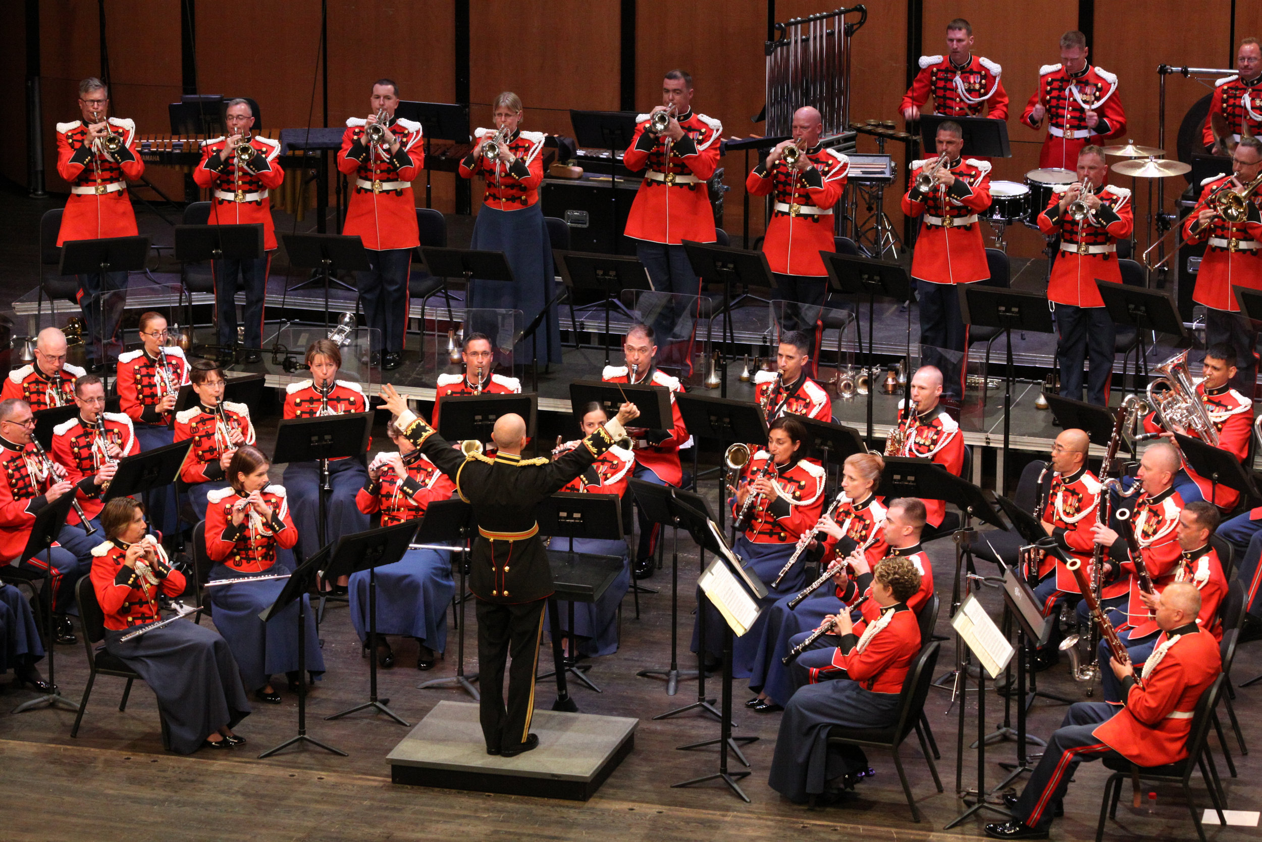 """""""The President's Own"""" U.S. Marine Band will perform on the stage in the Half Hollow Hills High School East auditorium this October.     Photo Courtesy of U.S. Marine Band Public Affairs"""