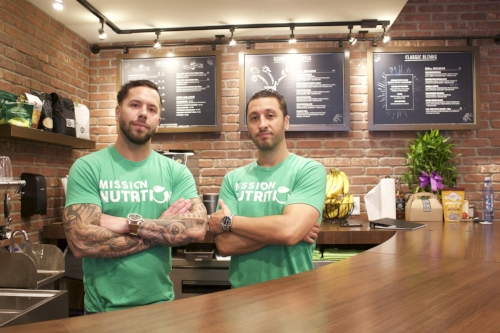 Brothers Anthony and Chris Giordano opened Mission Nutrition in Huntington village to help encourage healthier lifestyle habits in their customers.   Long Islander News photo/Janee Law