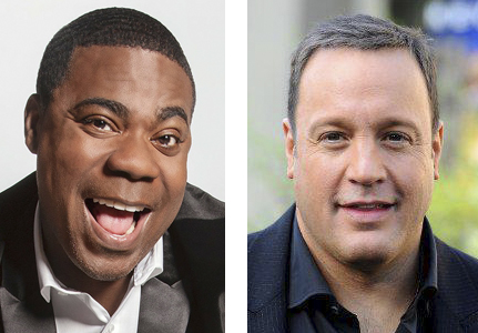 Tracy Morgan and Kevin James are performing at The Paramount later this month, on Oct. 14 and Oct. 22, respectively.