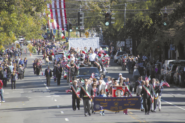 Main Street in Huntington village will be covered in the colors green, white and red on Oct. 8 for the Annual Long Island Columbus Day Parade.   Long Islander News Photo/Archives
