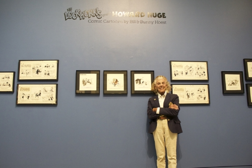 """The works of Bunny Hoest and her late husband Bill are currently being featured at Heckscher Museum of Art in the """"Lockhorns Meet Howard Huge: Comic Cartoons by Bill & Bunny Hoest"""" exhibition.   Long Islander News Photo/Janee Law"""