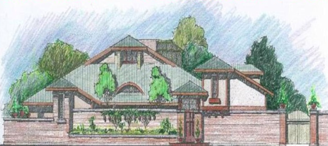This rendering depicts a proposed 7,000- to 8,000-square-foot congregate care facility, for 21 or older adults with disabilities, on Cuba Hill Road in Greenlawn.