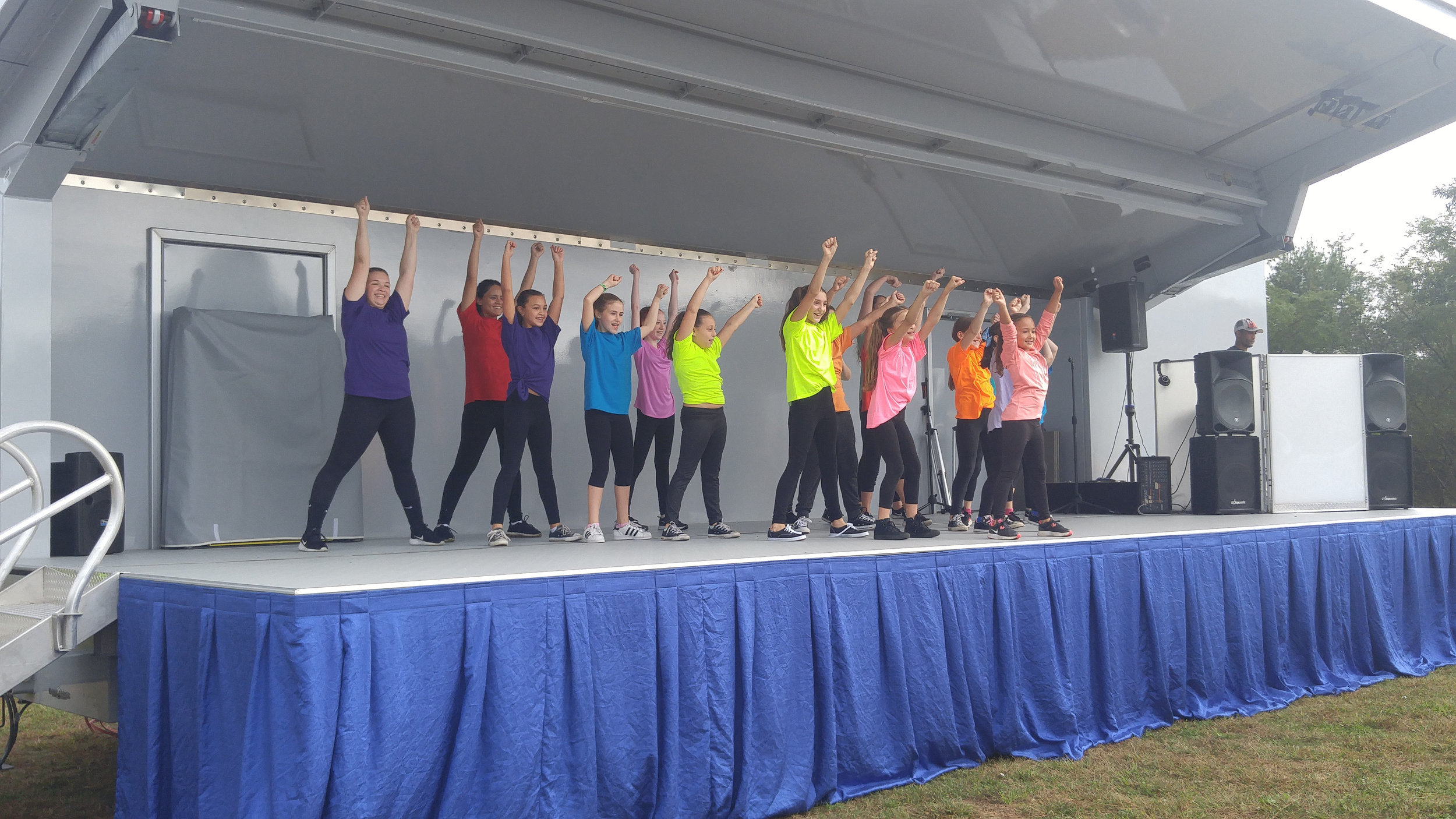 The young performers from the Stars of Tomorrow Dance Academy in Centerport took center stage.   Photo Courtesy of Rachael Risinger