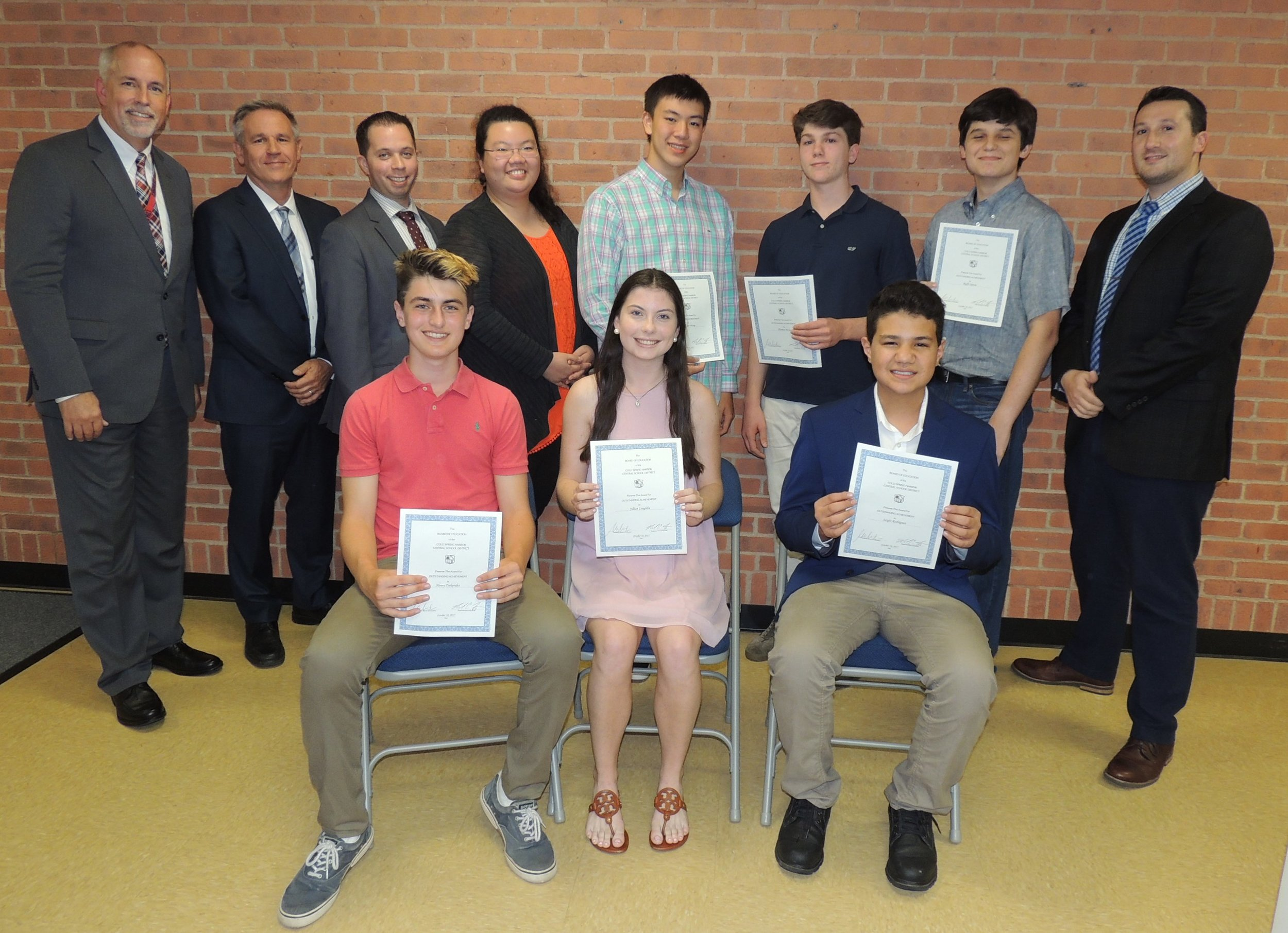 Several students within the Cold Spring Harbor School District received music honors in the All-State New York State School Music Association (NYSSMA) and the American Choral Directors Association (ACDA) All National Choral Ensembles.   Photo Courtesy of Cold Spring Harbor School District