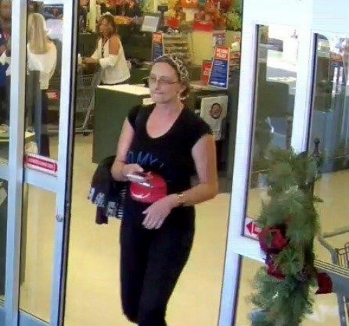 Police are looking for the woman pictured, who police said stole about $350 worth of craft supplies from Hobby Lobby in Commack.  Photo/SCPD