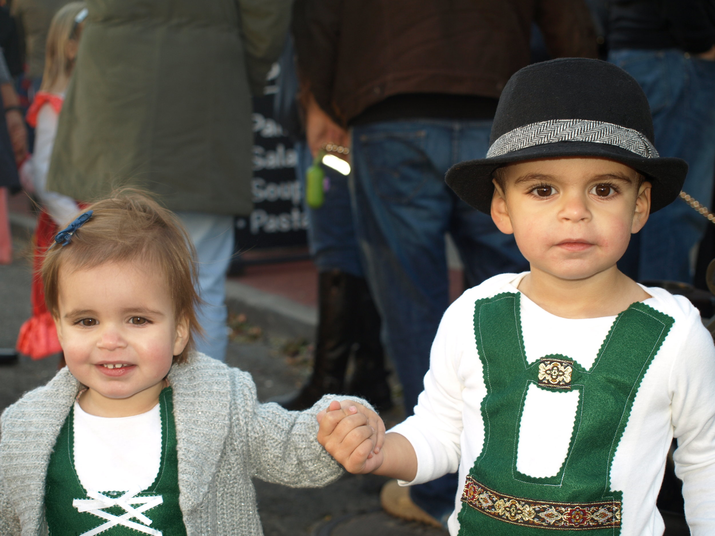 Charlotte, 1, and Henry, 2, Greenberg dressed as Hansel and Gretel.   Long Islander News Photo/Connor Beach