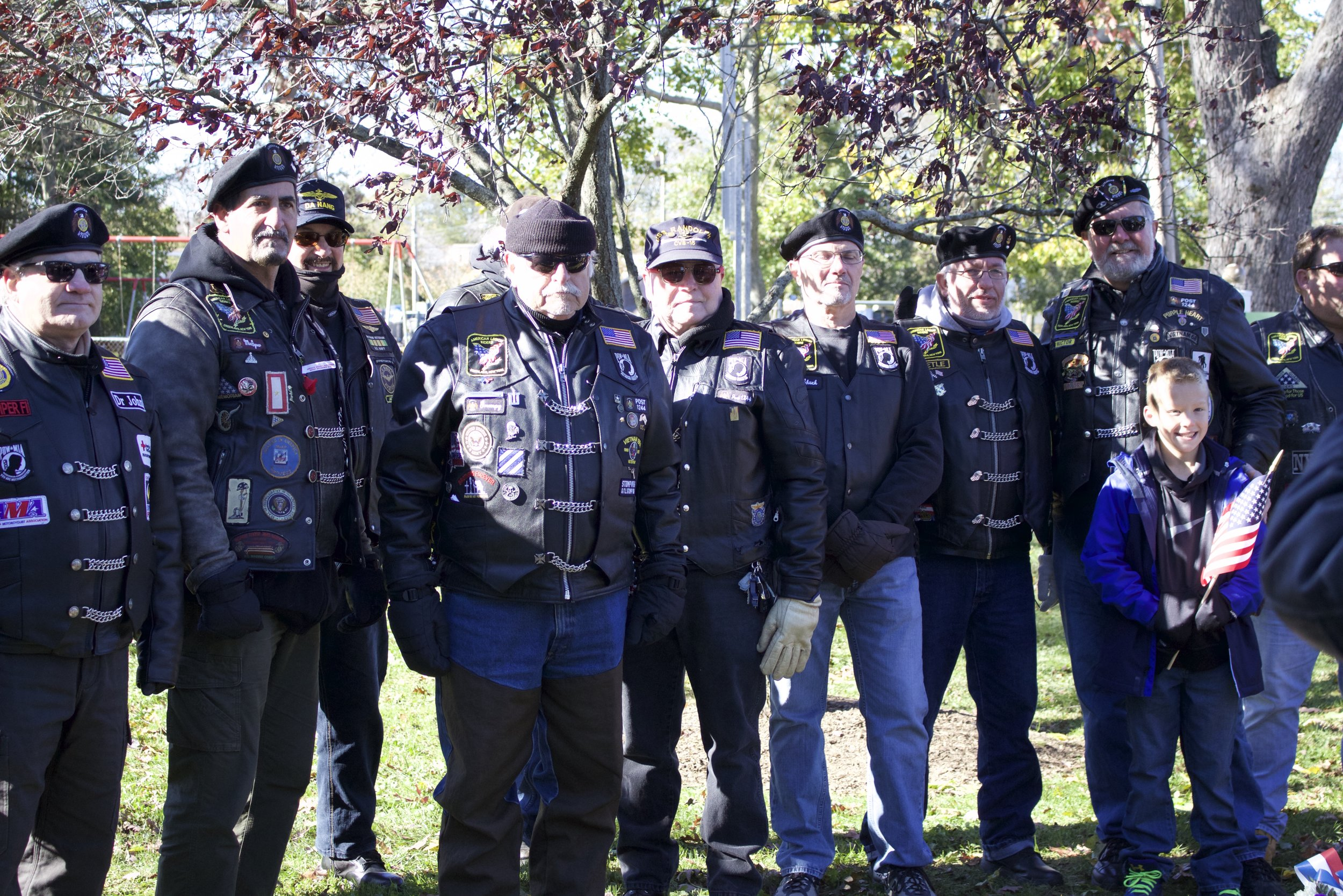 American Legion Riders of the Greenlawn Post 1244 attend the annual Veterans Day Ceremony at the Greenlawn Memorial Park.   Long Islander News Photo/Janee Law