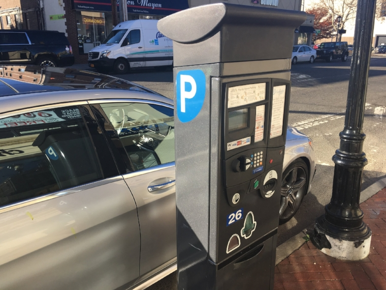 Parking fees will be waived in Huntington and Northport villages from Nov. 24, 2017 through Jan. 1, 2018.   Long Islander News Photo/Paul Shapiro