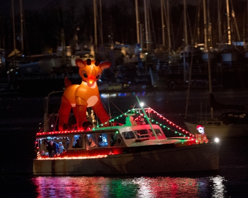 After a one-year hiatus, the Huntington Lighthouse Preservation Society's Parade of Lights returns to Huntington Harbor this Friday.      Photo Courtesy of Pam Setchell