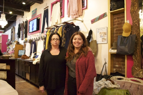 Ooh La La's Huntington location manager Kathy McKee, and Nikki Campbell, manager of operations at Huntington, are urging customers to shop small.   Long Islander News Photo/Janee Law