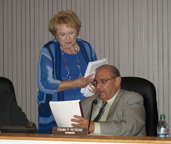 The Huntington Town Board voted to approve Supervisor Frank Petrone's last budget proposal for 2018.   Long Islander News Photo/Archives