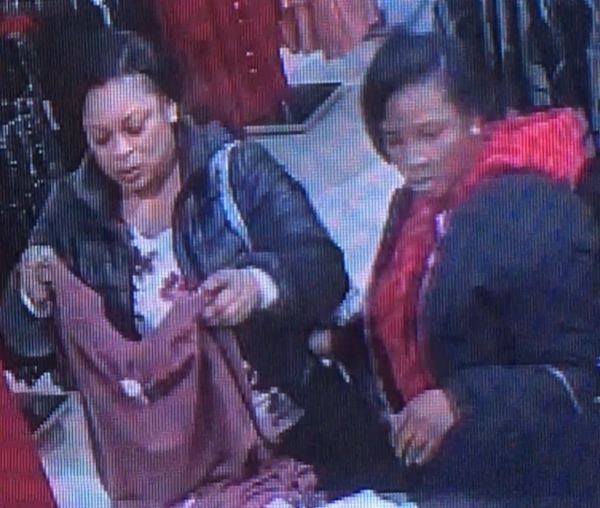 Suffolk County Crime Stoppers and Suffolk County Police Second Precinct Crime Section officers are seeking the public's help to identify and locate these two women who stole from a Melville store last month.   Photo Courtesy of SCPD