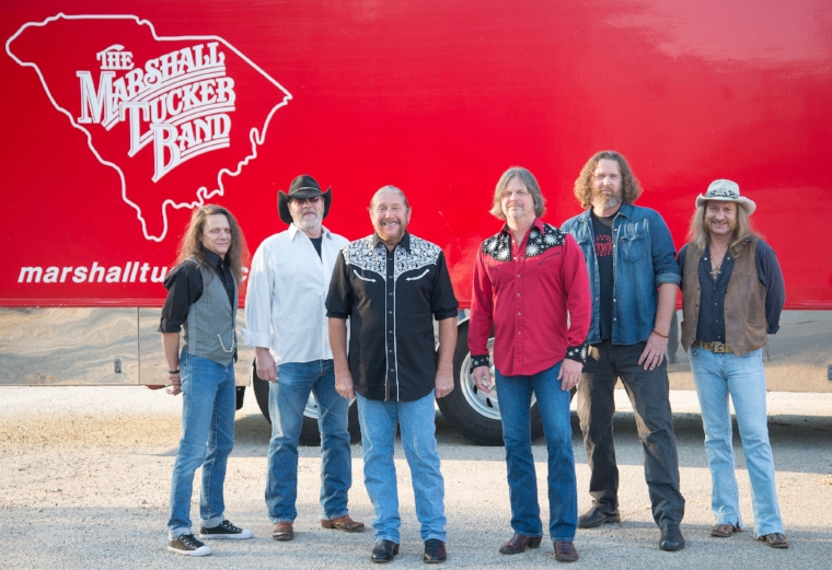 Doug Gray, third from left, will lead The Marshall Tucker Band on stage during the band's show at The Paramount in Huntington on Thursday, Dec. 7.