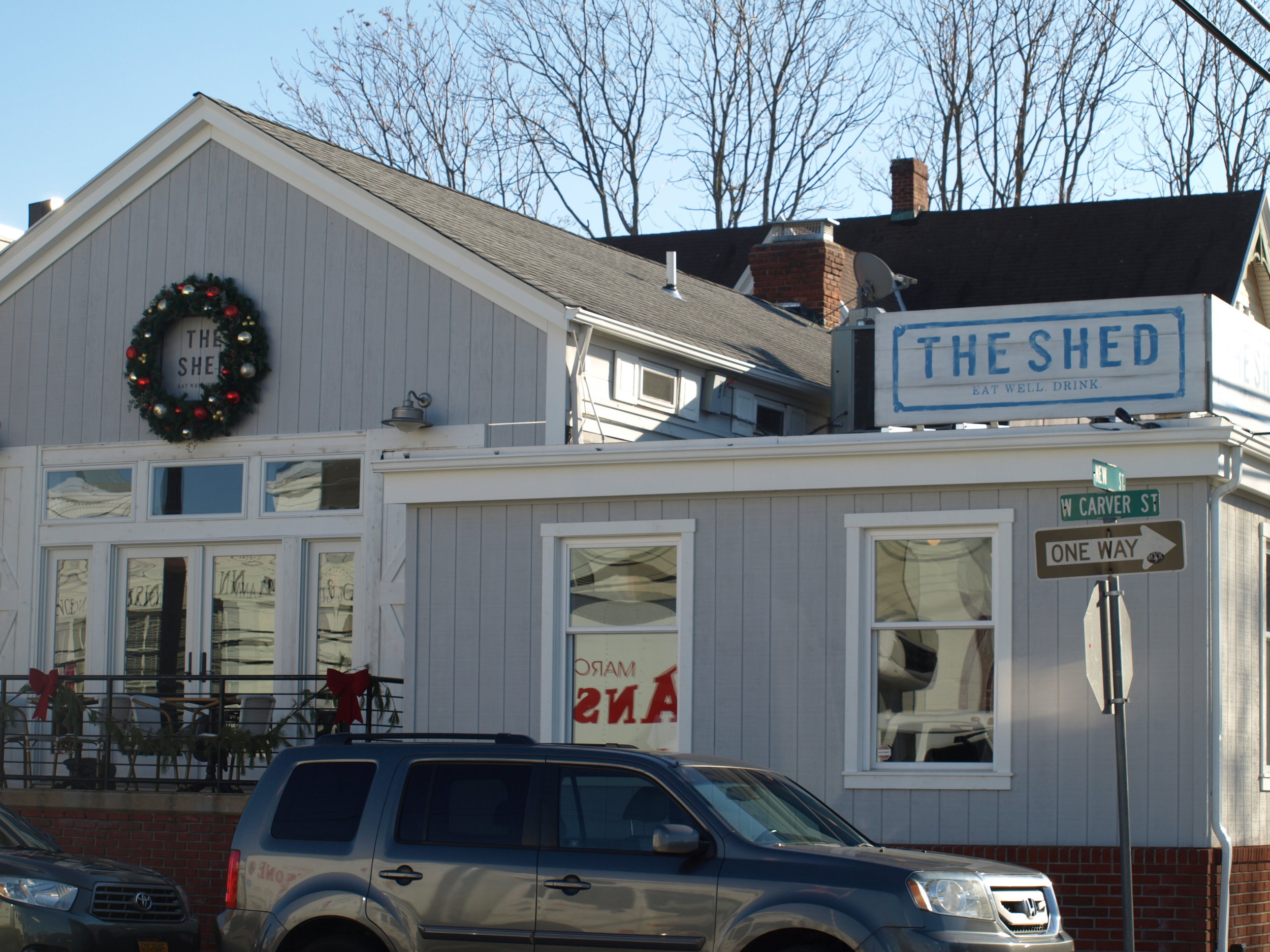 The Shed, located at 54 New St., Huntington village, serves up both breakfast items and classic American dishes that are matched by a comfortable, rustic atmosphere.   Long Islander News photos/Connor Beach