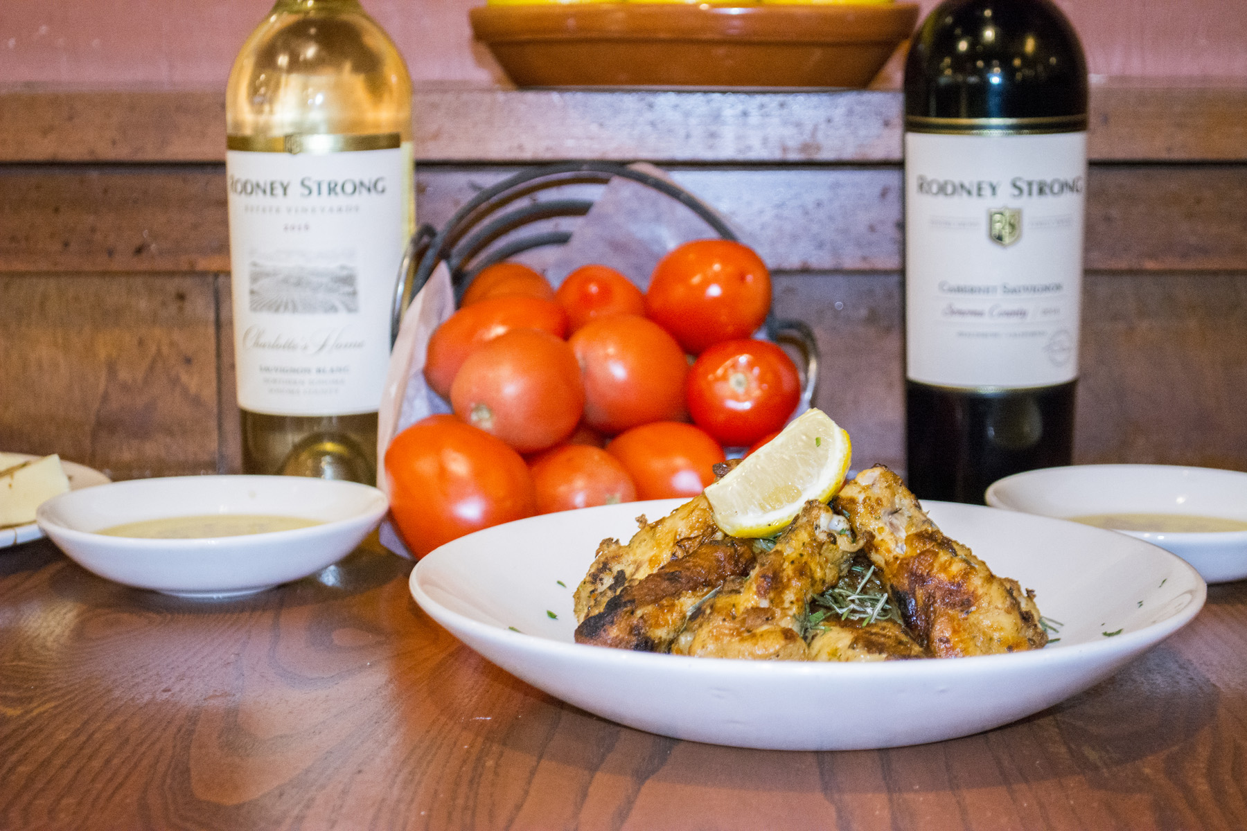 Grilled Tuscan Wings (eight for $10.79) are grilled and marinated in lemon and rosemary.   Long Islander News photos/Connor Beach