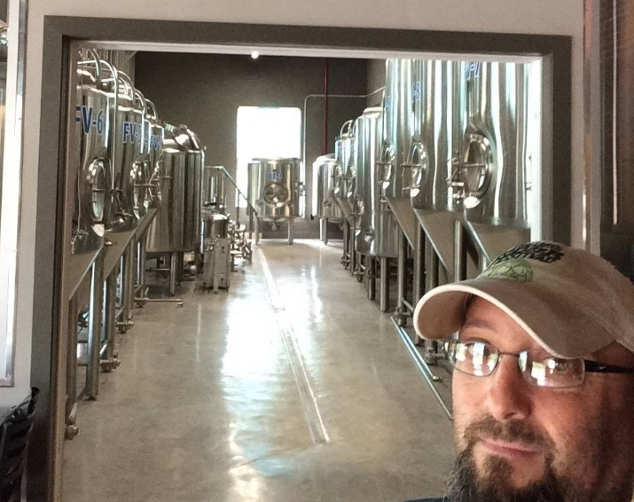 Northport-native David Gonzalez is director of brewing operations at Rivermen Brewing Company in Belmont, North Carolina.   Photo/David Gonzalez