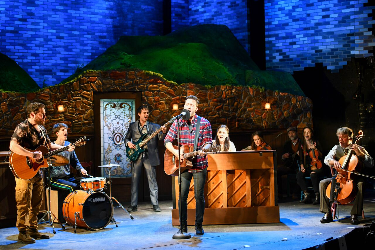 """Barry DeBois (Guy) and Ensemble delivers a powerful performance in """"When Your Mind's Made Up"""" of the John W Engeman Theater's production of """"Once.""""   Photos by Michael DeCristofaro"""