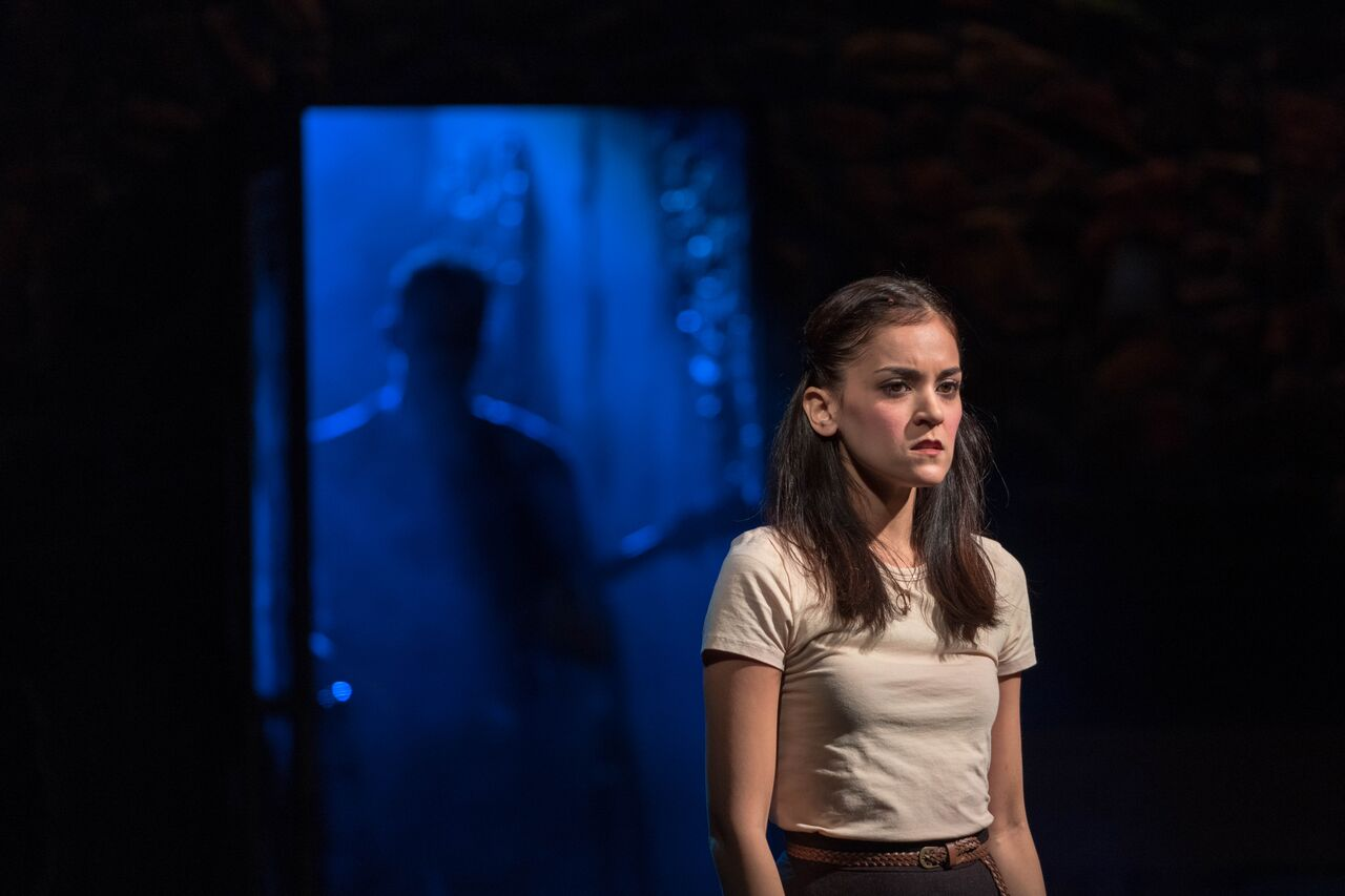 """Andrea Goss (Girl) takes the lead in """"If You Want Me,"""" where she, along with the ensemble, offer a powerful performance.   Photos by Michael DeCristofaro"""