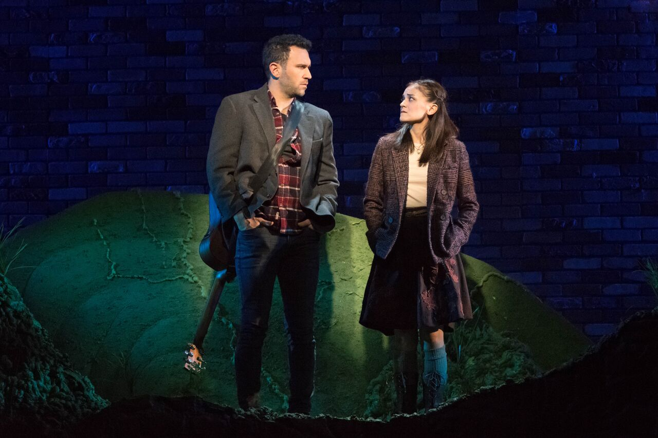 """Barry DeBois (Guy) and Andrea Goss (Girl) lead Engeman's production of """"Once,"""" telling the inspirational tale on pursuing dreams and people's ability to connect with one another through the power of music.   Photos by Michael DeCristofaro"""