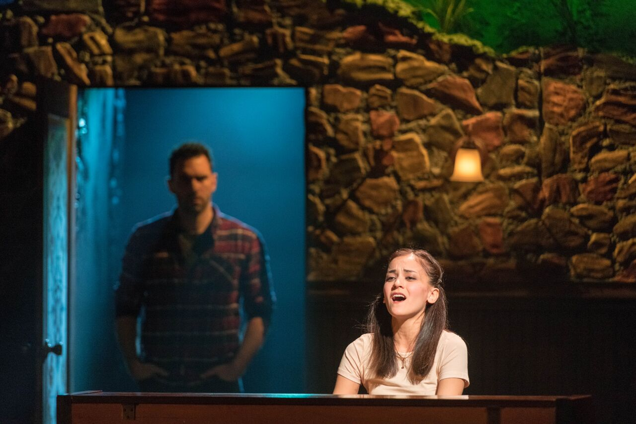 """Andrea Goss (Girl) gives an emotional performance in """"The Hill"""" of the John W Engeman Theater's production of """"Once.""""   Photos by Michael DeCristofaro"""