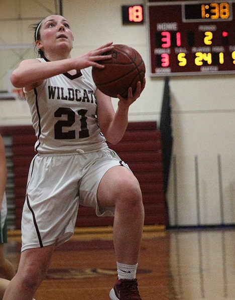 Whitman junior Meghan Soulias is averaging 19.2 points per game through the Wildcats current five-game win streak.   Photo/South Huntington School District