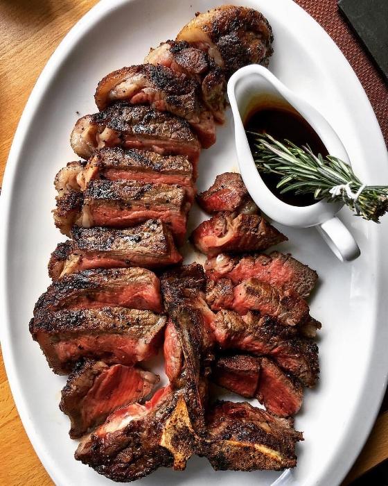 Meet the 40-ounce porterhouse steak for two available at IMC.   Photo/Facebook/IMC