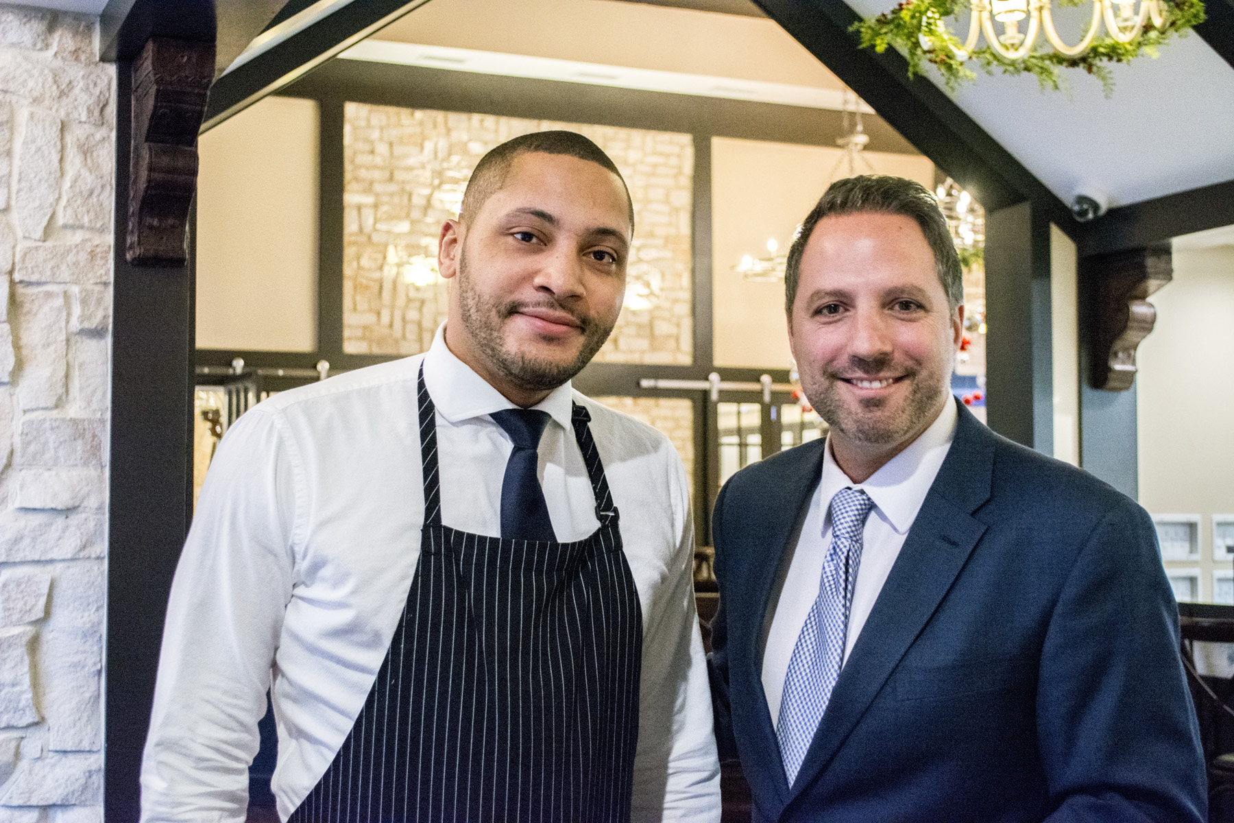 Vincent Lorusso, right, a floor manager at Matteo's, which is participating in Spring DineHuntington Restaurant Week.   Long Islander News photos/archives
