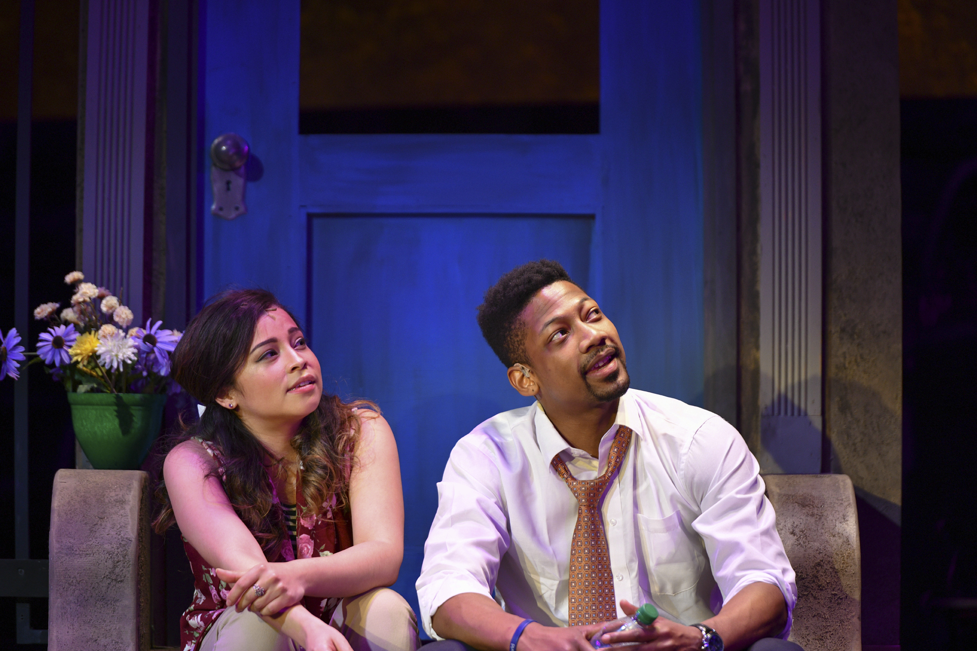 Cherry Torres (Nina) and Josh Marin (Benny) offer a love story that audiences can connect with, portraying or childhood friends who develop romantic feels for one another in their adult life.   Photos by Michael DeCristofaro