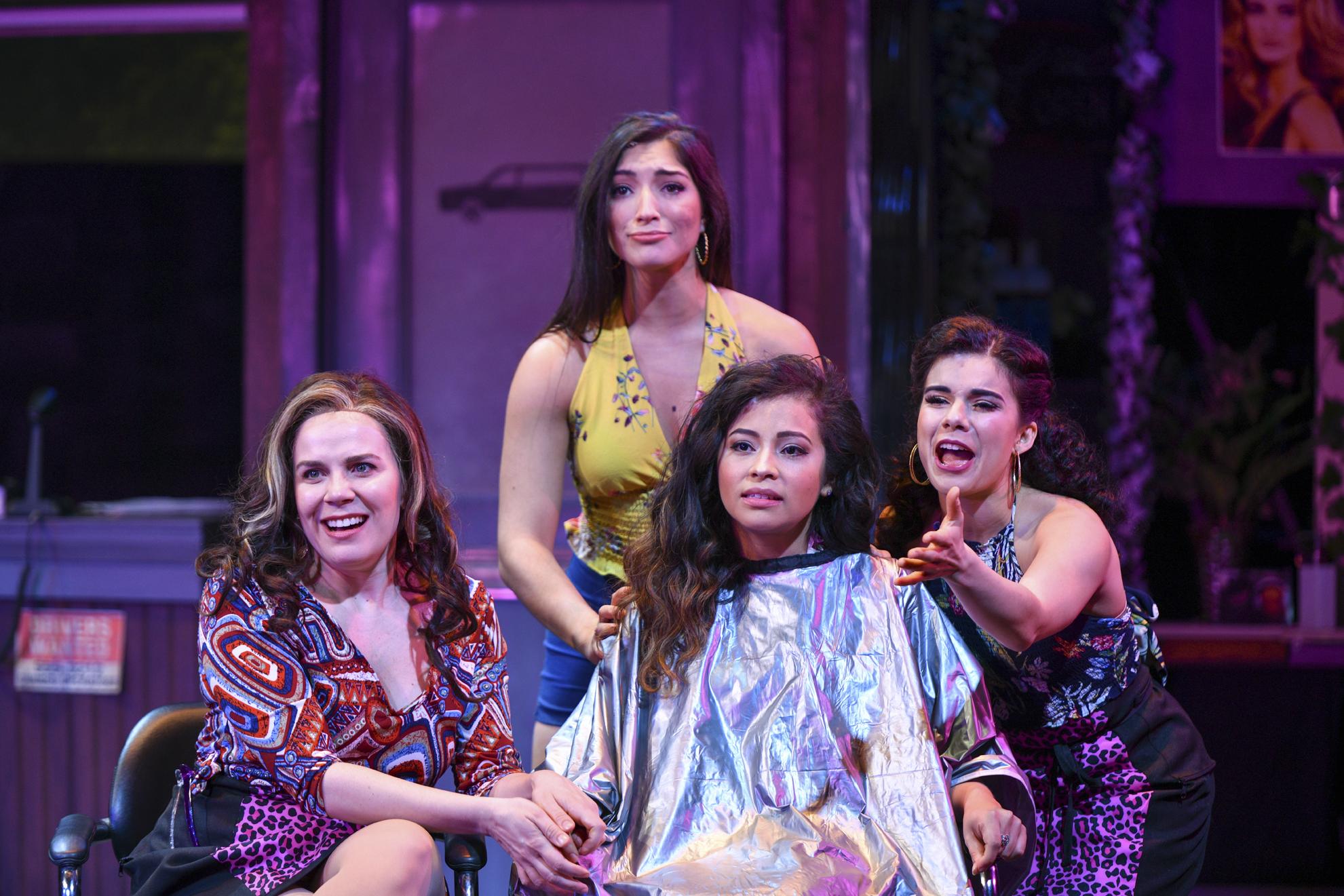 "Scheherazade Quiroga (Daniela), Chiara Trentalange (Vanessa), Cherry Torres (Nina) and Iliana Garcia (Carla) perform ""No Me Diga.""   Photos by Michael DeCristofaro"