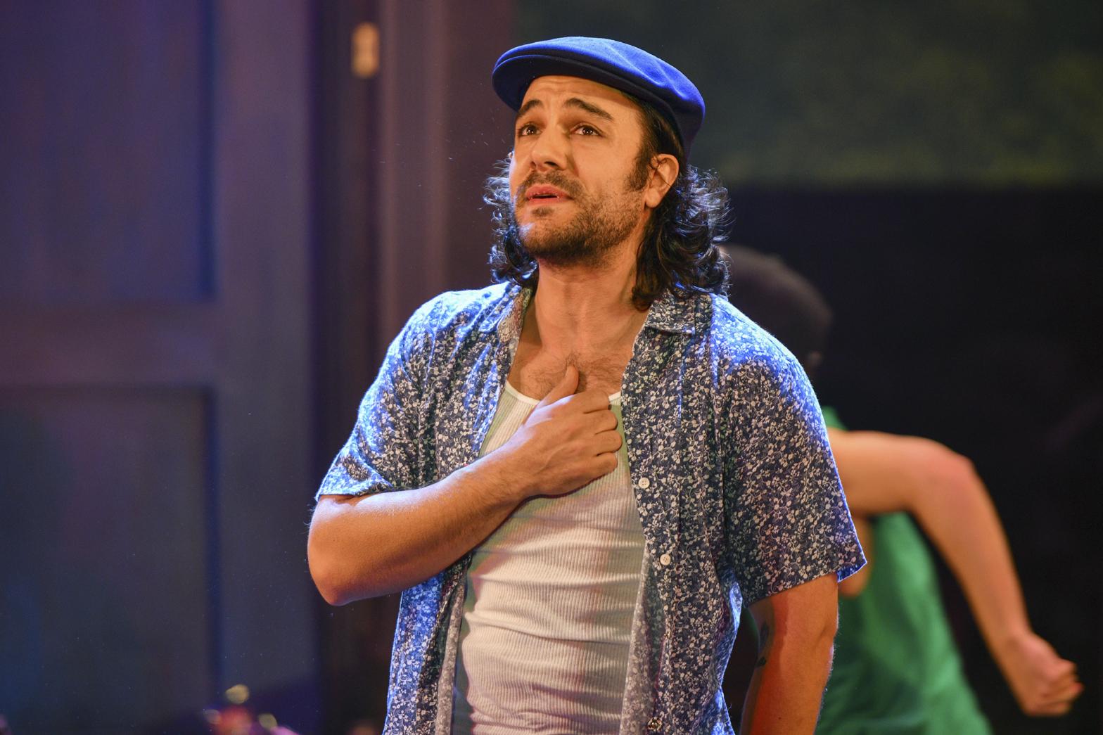 Audience members will be bobbing their heads to Spiro Marcos' (Usnavi) rhythmic rap sequences.     Photos by Michael DeCristofaro