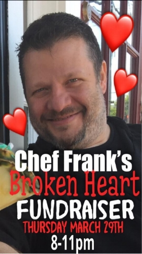 A fundraiser at Christopher's will benefit Chef Frank Arcarola as he battles serious health issues.